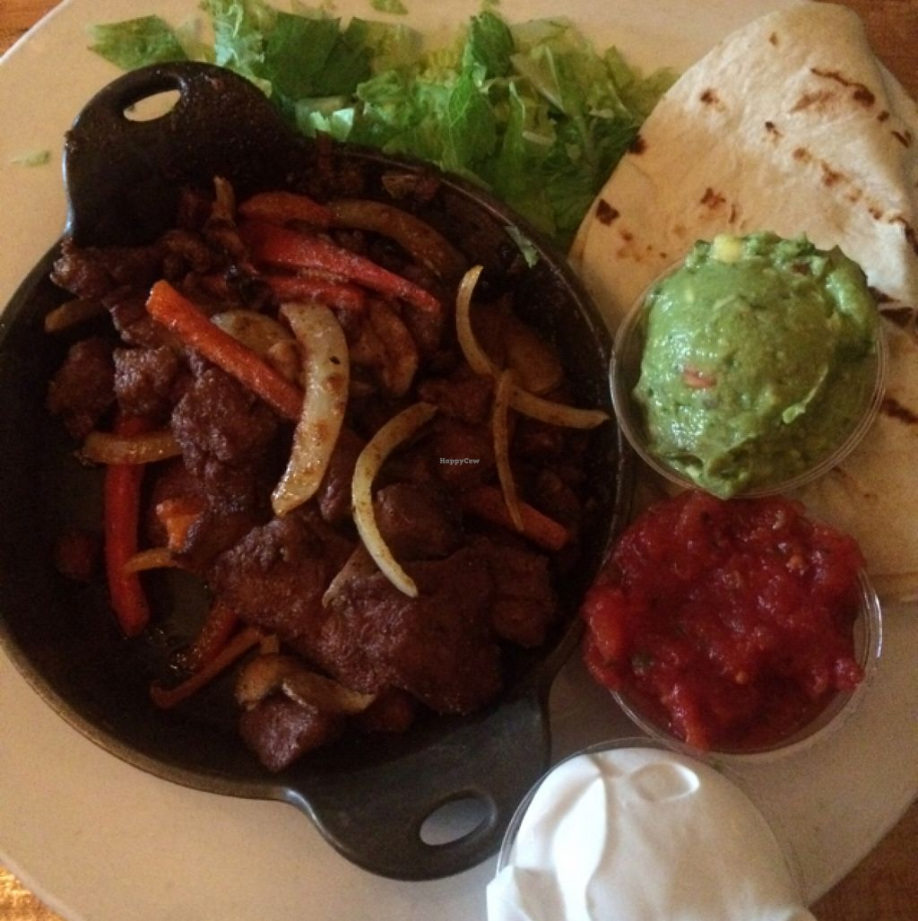 """Photo of Garden Grille Cafe  by <a href=""""/members/profile/Stacie99"""">Stacie99</a> <br/>Seitan fajitas  <br/> November 10, 2015  - <a href='/contact/abuse/image/2483/124517'>Report</a>"""