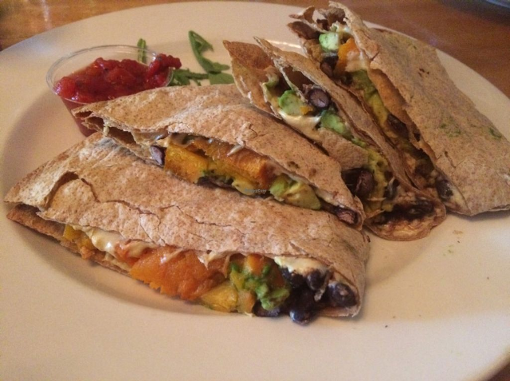 """Photo of Garden Grille Cafe  by <a href=""""/members/profile/Stacie99"""">Stacie99</a> <br/>butternut and black bean fajitas- yum! <br/> November 10, 2015  - <a href='/contact/abuse/image/2483/124518'>Report</a>"""