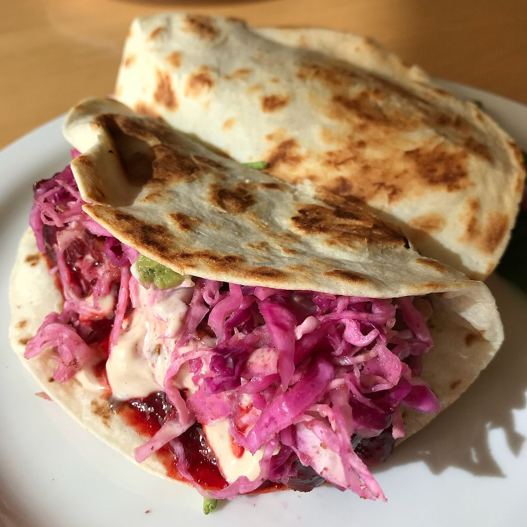 """Photo of Garden Grille Cafe  by <a href=""""/members/profile/Sarah%20P"""">Sarah P</a> <br/>Tempeh tacos <br/> October 23, 2017  - <a href='/contact/abuse/image/2483/317875'>Report</a>"""