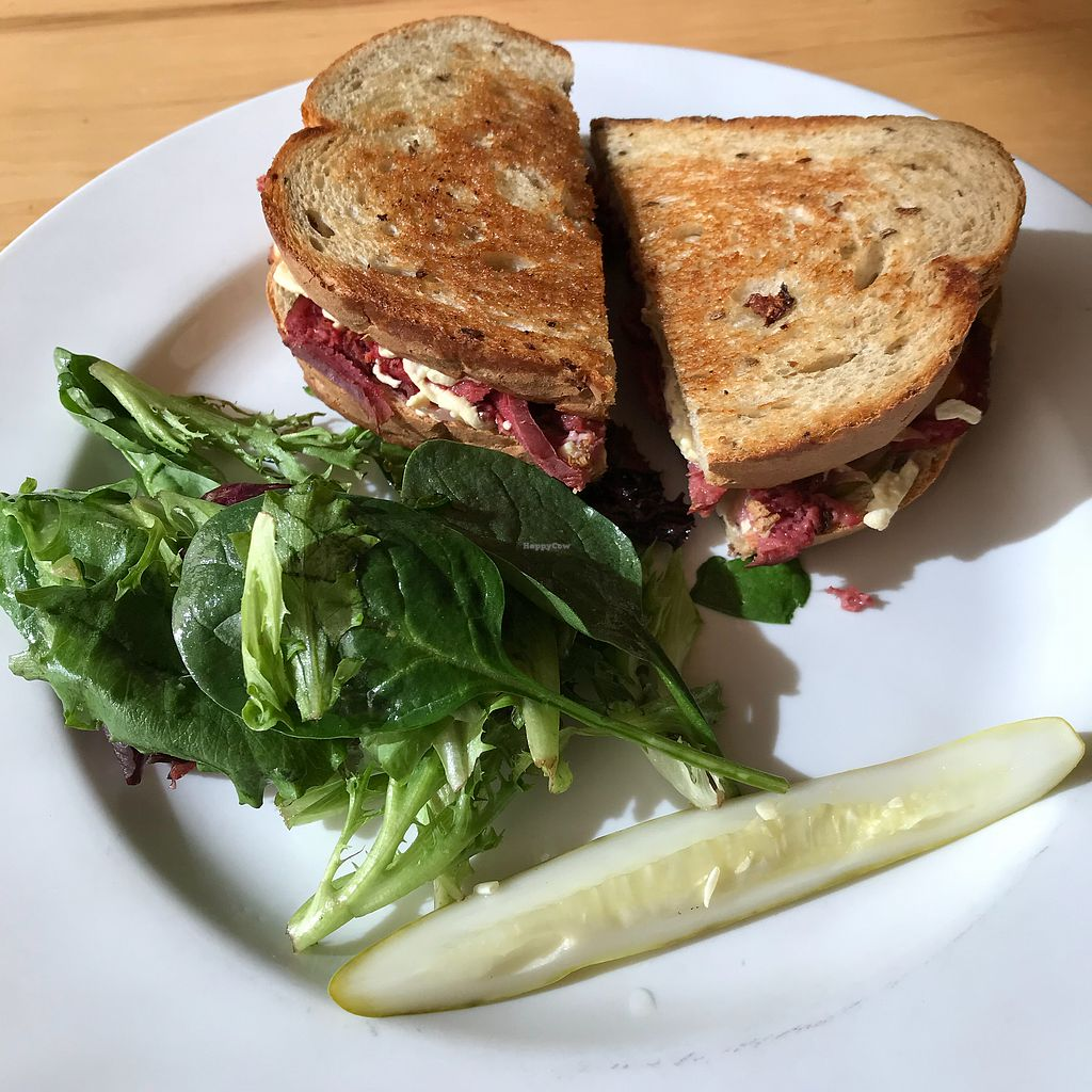 """Photo of Garden Grille Cafe  by <a href=""""/members/profile/Sarah%20P"""">Sarah P</a> <br/>Seitan Reuben  <br/> October 23, 2017  - <a href='/contact/abuse/image/2483/317881'>Report</a>"""