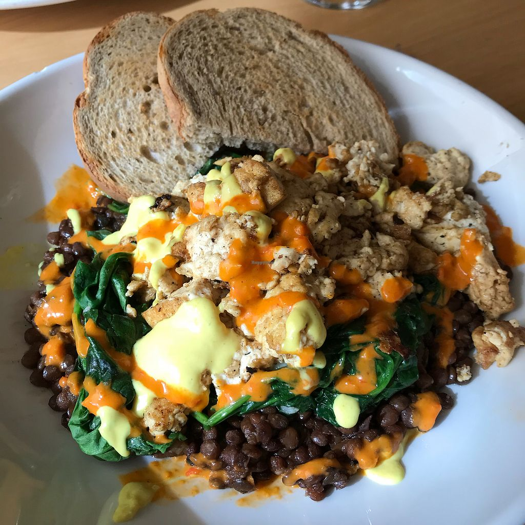 """Photo of Garden Grille Cafe  by <a href=""""/members/profile/Sarah%20P"""">Sarah P</a> <br/>Lentils and tofu special <br/> October 23, 2017  - <a href='/contact/abuse/image/2483/317882'>Report</a>"""
