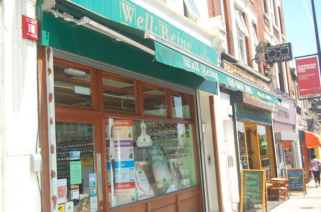 """Photo of Well Being - Lewisham  by <a href=""""/members/profile/Clare"""">Clare</a> <br/>Storefront <br/> June 12, 2015  - <a href='/contact/abuse/image/24846/105541'>Report</a>"""