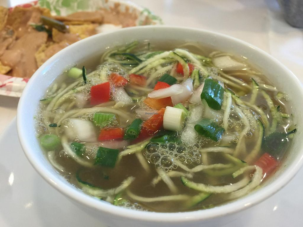 """Photo of Loving Hut  by <a href=""""/members/profile/Tata"""">Tata</a> <br/>Zucchini noodle soup. Healthy and tastes Excellent! <br/> January 14, 2015  - <a href='/contact/abuse/image/24851/90371'>Report</a>"""