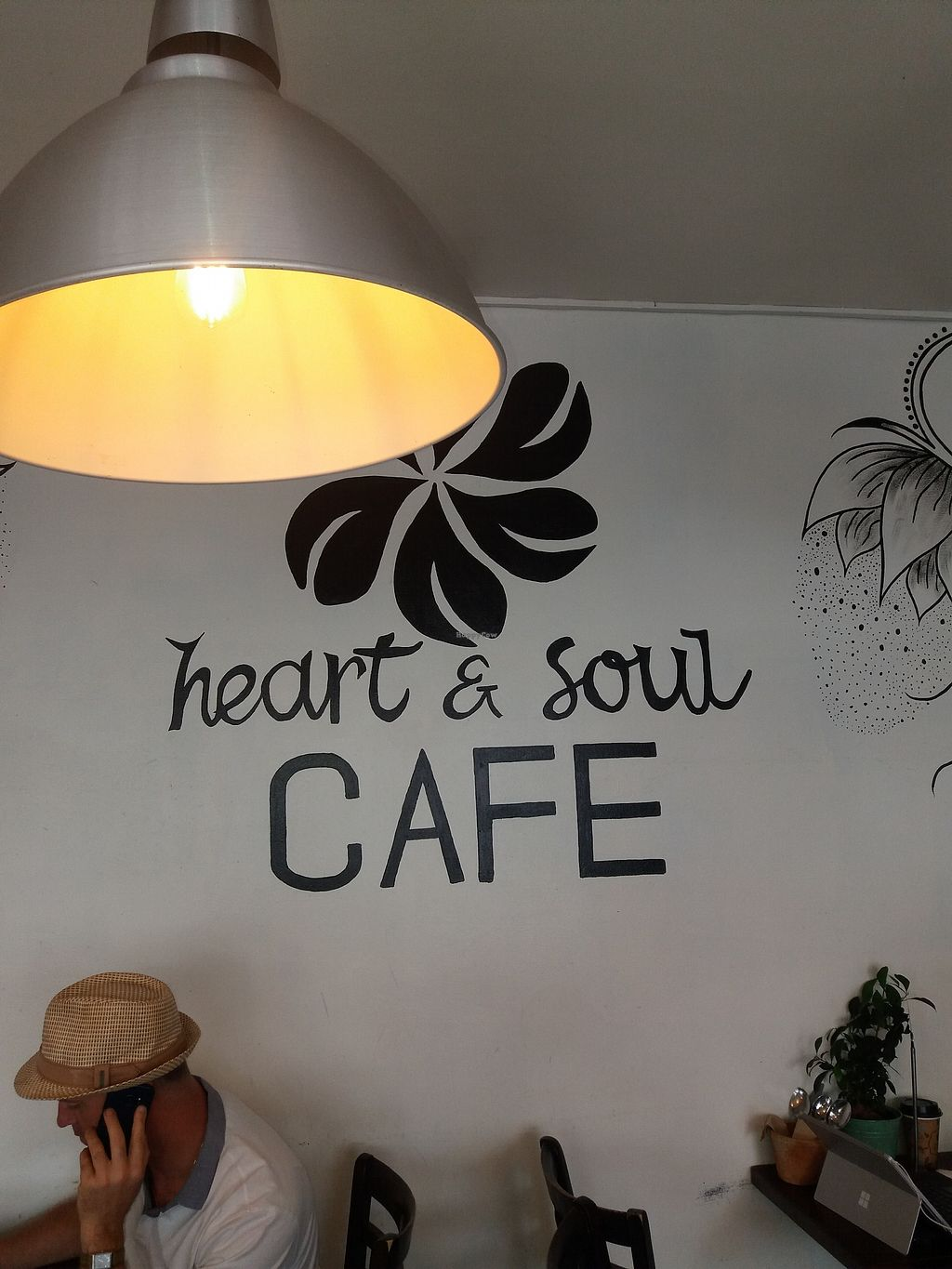 "Photo of Heart and Soul Organic Chai Cafe  by <a href=""/members/profile/veganvirtues"">veganvirtues</a> <br/>Signage <br/> February 19, 2018  - <a href='/contact/abuse/image/24897/361129'>Report</a>"