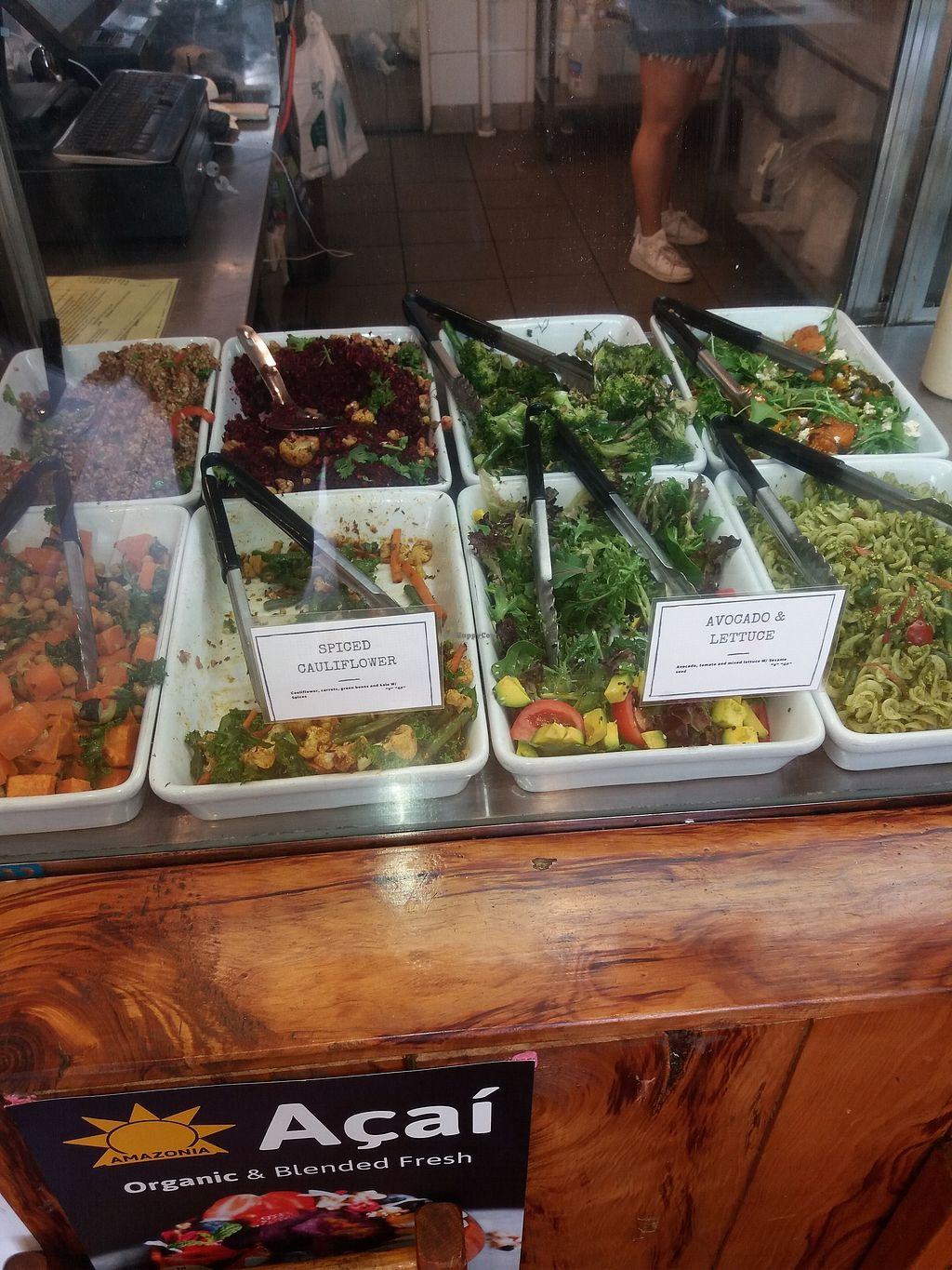 "Photo of Heart and Soul Organic Chai Cafe  by <a href=""/members/profile/veganvirtues"">veganvirtues</a> <br/>Salad bar <br/> February 19, 2018  - <a href='/contact/abuse/image/24897/361131'>Report</a>"