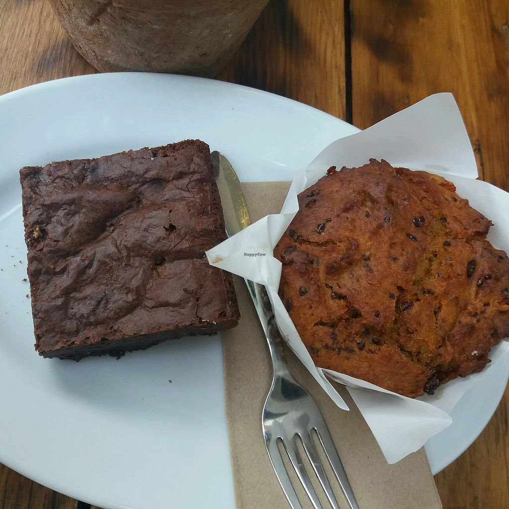 "Photo of Heart and Soul Organic Chai Cafe  by <a href=""/members/profile/veganvirtues"">veganvirtues</a> <br/>muffin and macadamia slice <br/> April 21, 2018  - <a href='/contact/abuse/image/24897/388909'>Report</a>"