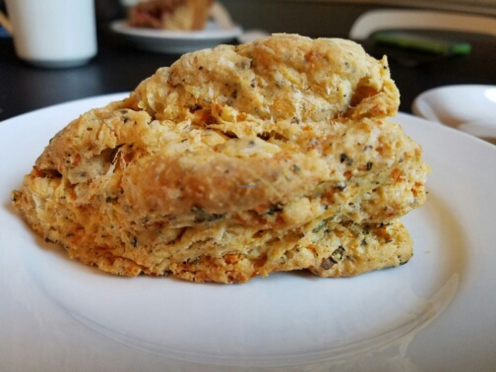 """Photo of Mud Pie Vegan Bakery and Coffee  by <a href=""""/members/profile/EverydayTastiness"""">EverydayTastiness</a> <br/>cheddar scone  <br/> April 8, 2016  - <a href='/contact/abuse/image/24918/143352'>Report</a>"""