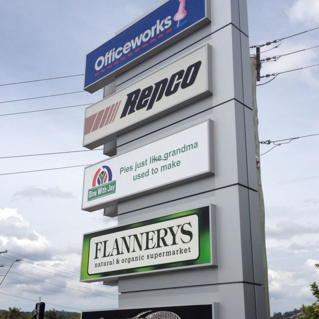 """Photo of Flannerys Natural and Organic Supermarket  by <a href=""""/members/profile/Fingercuts"""">Fingercuts</a> <br/>road signage <br/> February 26, 2016  - <a href='/contact/abuse/image/24920/137917'>Report</a>"""