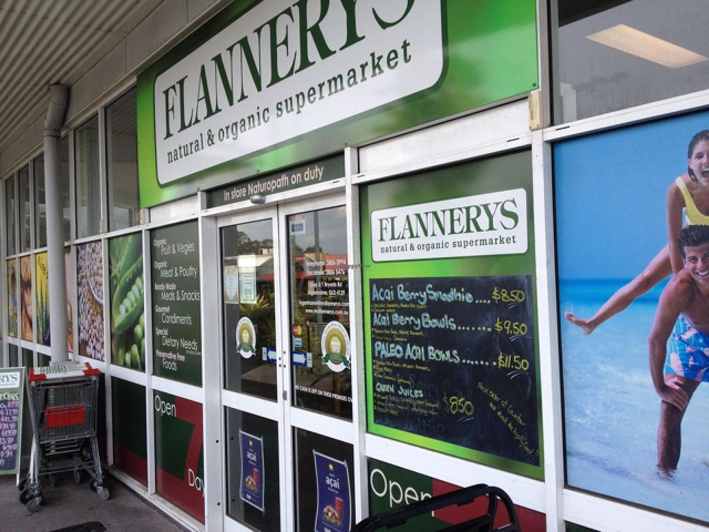 """Photo of Flannerys Natural and Organic Supermarket  by <a href=""""/members/profile/Fingercuts"""">Fingercuts</a> <br/>front door <br/> February 26, 2016  - <a href='/contact/abuse/image/24920/137918'>Report</a>"""