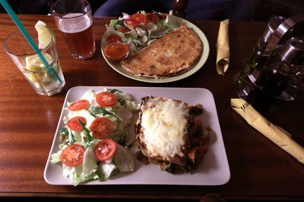 """Photo of Macska  by <a href=""""/members/profile/nettchen"""">nettchen</a> <br/>Vegetarian lasagna and quesadilla <br/> April 12, 2016  - <a href='/contact/abuse/image/24951/144159'>Report</a>"""