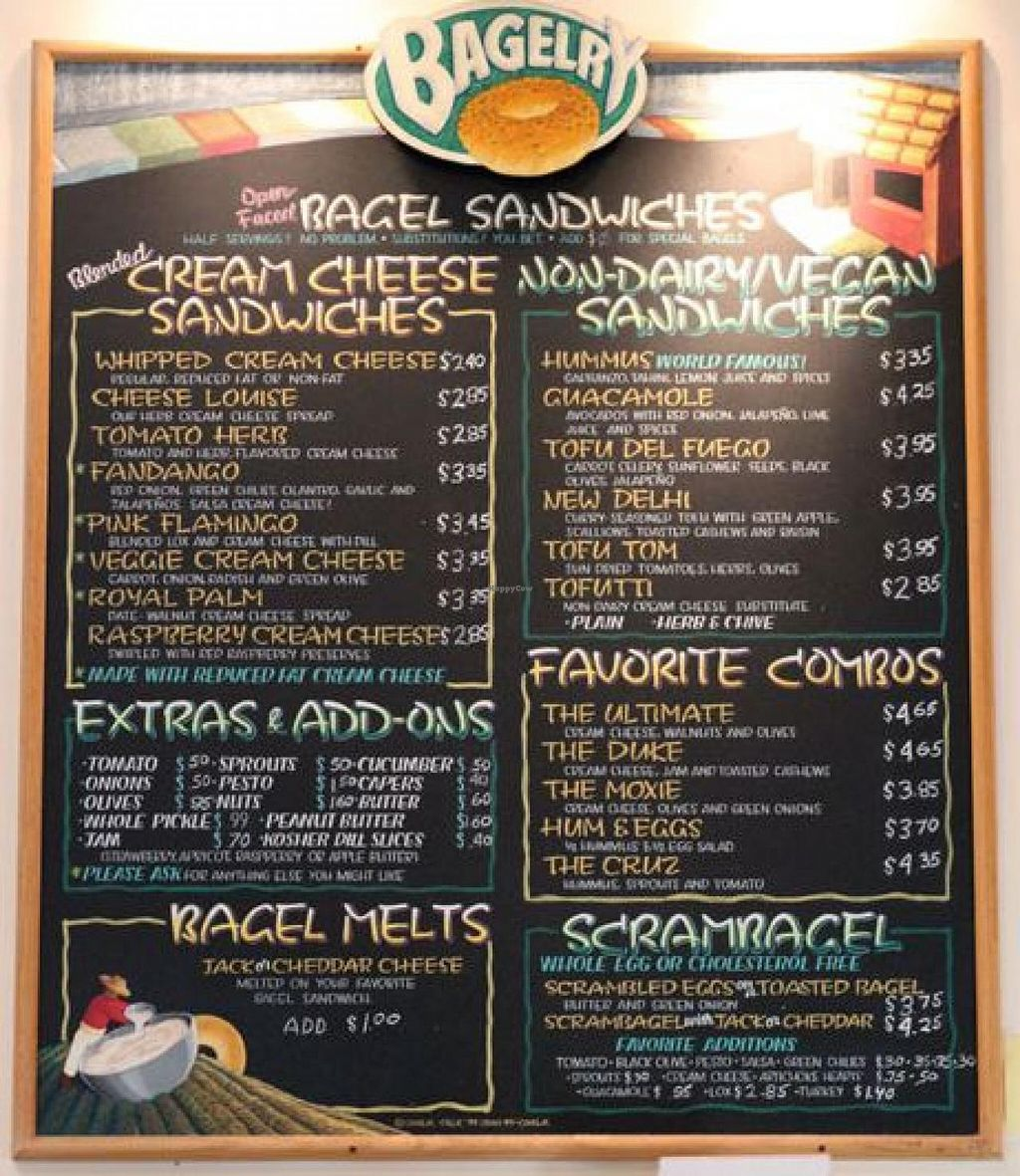 Photo of The Bagelry  by StephenS <br/>Vegan Friendly <br/> March 4, 2014  - <a href='/contact/abuse/image/24959/65286'>Report</a>