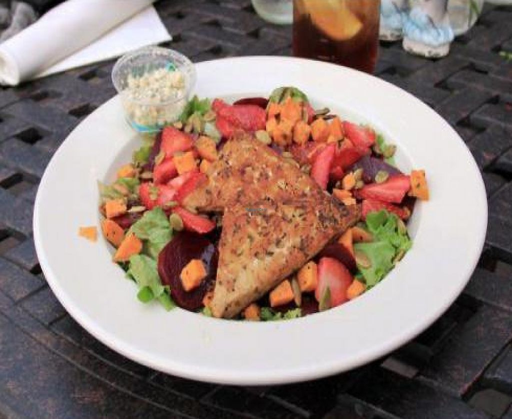 """Photo of The Floridian  by <a href=""""/members/profile/Julie%20R"""">Julie R</a> <br/>Florida Sunshine Salad with Tempeh <br/> February 4, 2012  - <a href='/contact/abuse/image/24977/197526'>Report</a>"""