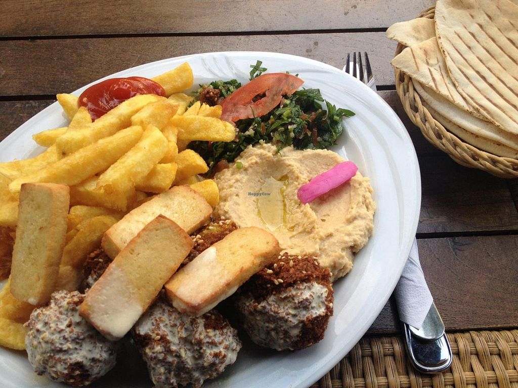 """Photo of Boussi Falafel - Berlin  by <a href=""""/members/profile/tiki_spanky"""">tiki_spanky</a> <br/>falafel platter with vegan halloumi <br/> May 29, 2015  - <a href='/contact/abuse/image/24981/104038'>Report</a>"""