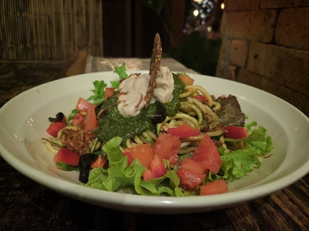 """Photo of Soma Cafe  by <a href=""""/members/profile/wildeyedgirl"""">wildeyedgirl</a> <br/>raw pesto pasta <br/> May 15, 2017  - <a href='/contact/abuse/image/24983/258922'>Report</a>"""
