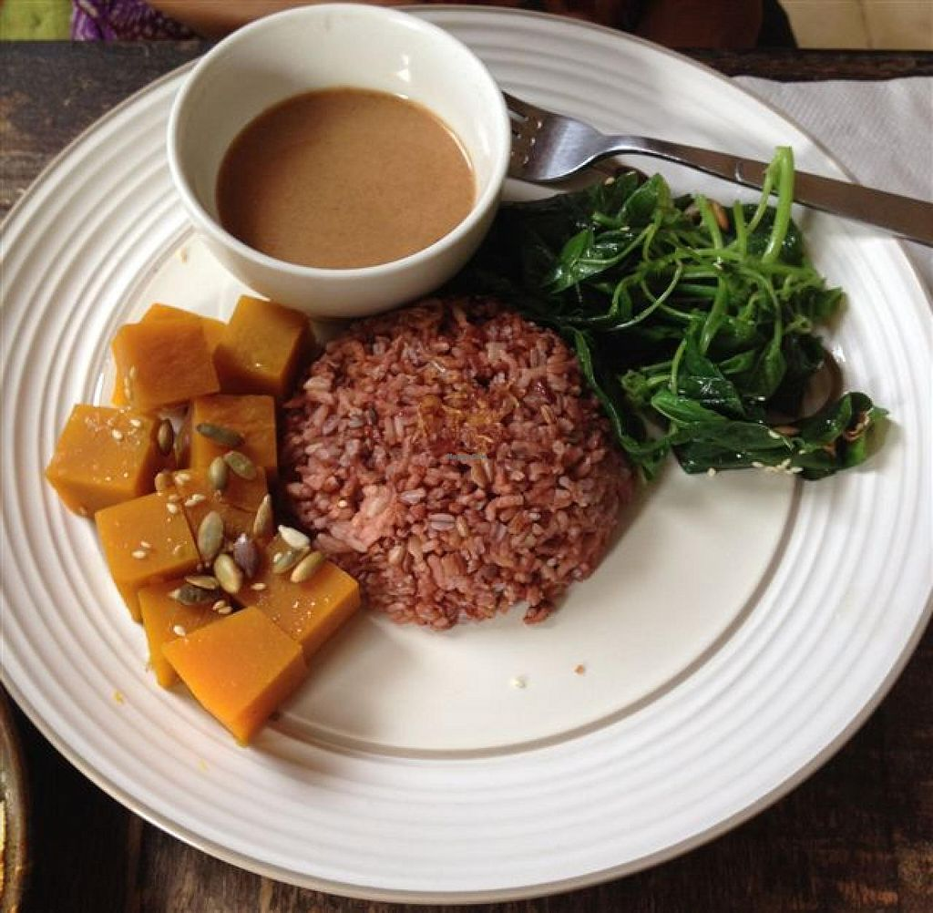 """Photo of Soma Cafe  by <a href=""""/members/profile/ole_ersson"""">ole_ersson</a> <br/>Soma Sweet and Simple with peanut sauce <br/> December 14, 2014  - <a href='/contact/abuse/image/24983/87952'>Report</a>"""