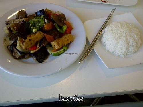 """Photo of CLOSED: Loving Hut - Spadina Ave  by <a href=""""/members/profile/josee.91"""">josee.91</a> <br/>Eggplant in Black Bean Sauce, with side of rice and Lentil Soup http://vegan-bananas.blogspot.ca/2013/02/vegan-restaurant-loving-hut-toronto.html <br/> March 25, 2013  - <a href='/contact/abuse/image/25000/45975'>Report</a>"""