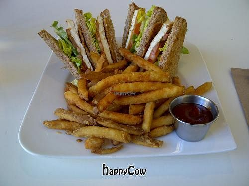 """Photo of CLOSED: Loving Hut - Spadina Ave  by <a href=""""/members/profile/josee.91"""">josee.91</a> <br/>Vegan Tofu Tempeh Club Sandwich See my review: http://vegan-bananas.blogspot.ca/2013/02/vegan-restaurant-loving-hut-toronto.html <br/> March 25, 2013  - <a href='/contact/abuse/image/25000/45976'>Report</a>"""