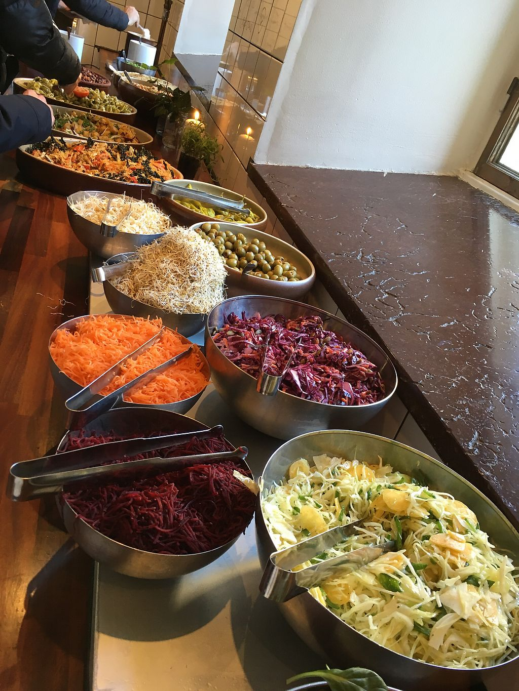 """Photo of Cafe Hangmattan  by <a href=""""/members/profile/SuzyJones"""">SuzyJones</a> <br/>Lunch buffet  <br/> April 6, 2018  - <a href='/contact/abuse/image/25037/381651'>Report</a>"""