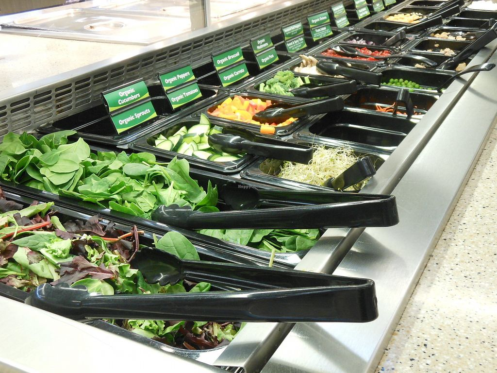 """Photo of Three Rivers Market  by <a href=""""/members/profile/ThreeRiversMarket"""">ThreeRiversMarket</a> <br/>Our fresh salad bar features 83% vegan items and 13% vegetarian items each day <br/> July 26, 2017  - <a href='/contact/abuse/image/2504/285343'>Report</a>"""