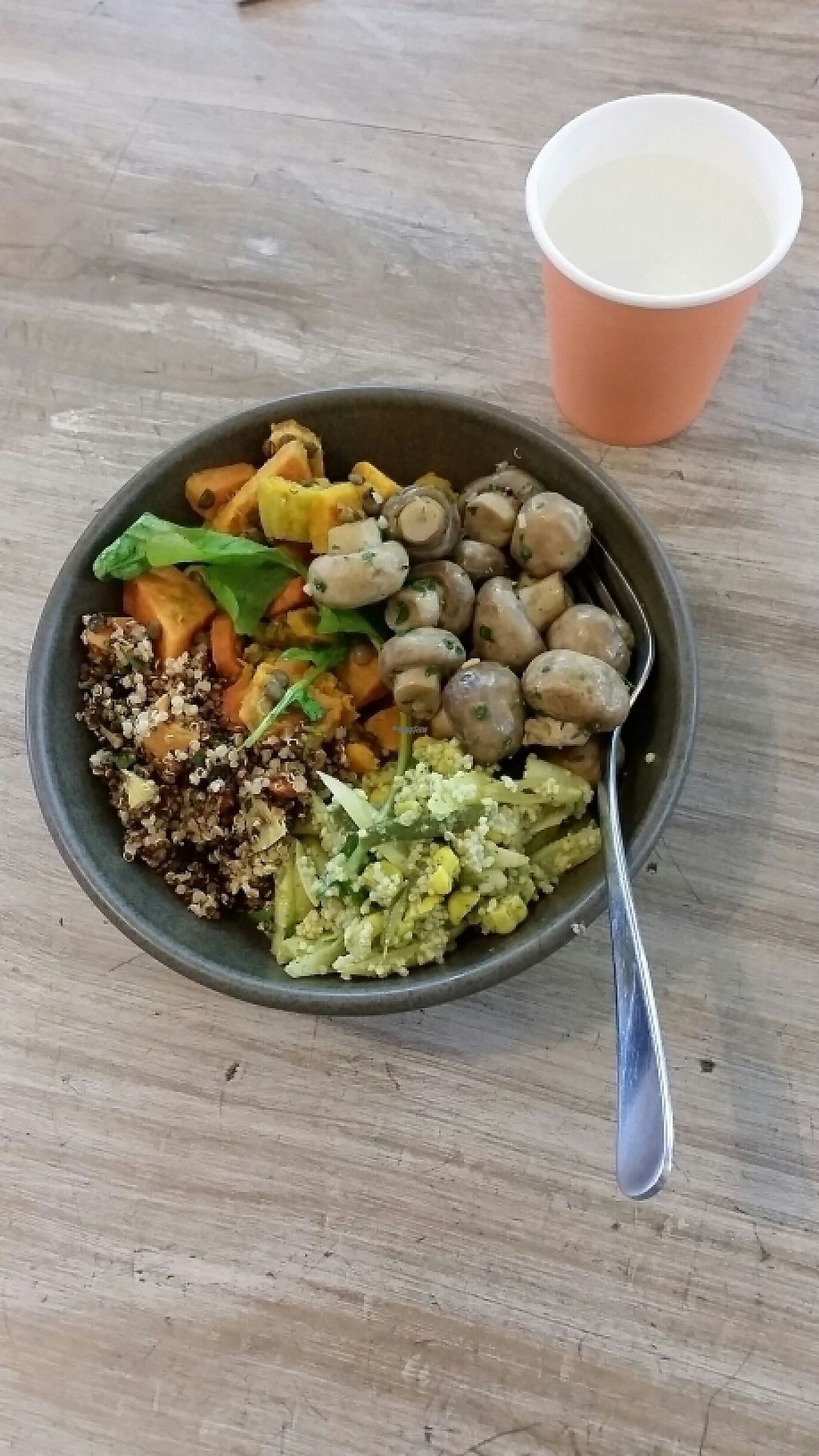 "Photo of The Wholefood Kitchen  by <a href=""/members/profile/AndyTheVWDude"">AndyTheVWDude</a> <br/>Warmed button mushrooms & mixed salad bowl <br/> March 21, 2017  - <a href='/contact/abuse/image/25063/239040'>Report</a>"