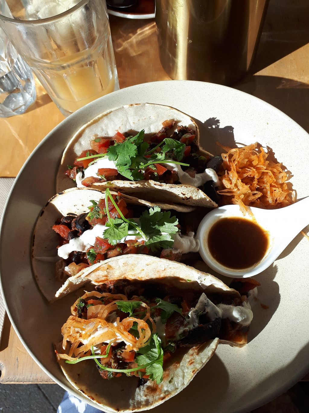 """Photo of Chantal Organics  by <a href=""""/members/profile/Diz%20Parker"""">Diz Parker</a> <br/>Black bean tacos for breakfast <br/> February 16, 2018  - <a href='/contact/abuse/image/25065/360090'>Report</a>"""