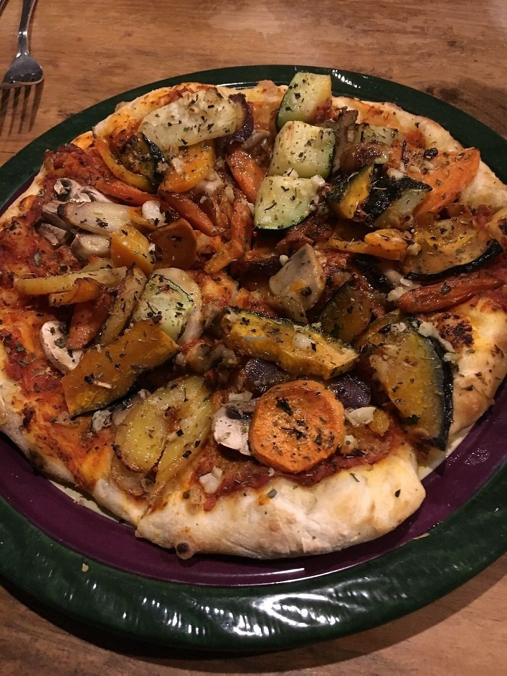 """Photo of Julia's Vegetarian Cuisine  by <a href=""""/members/profile/KWdaddio"""">KWdaddio</a> <br/>Roasted Veggie Pizza <br/> December 28, 2016  - <a href='/contact/abuse/image/25070/205773'>Report</a>"""