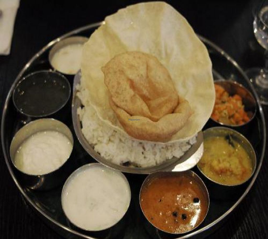 "Photo of Saravanaa Bhavan  by <a href=""/members/profile/mparvan"">mparvan</a> <br/>Food at Saravana Bhavan <br/> November 6, 2011  - <a href='/contact/abuse/image/25071/192706'>Report</a>"