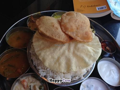 "Photo of Saravanaa Bhavan  by <a href=""/members/profile/Kittybiscuit"">Kittybiscuit</a> <br/>South Indian meal <br/> December 24, 2013  - <a href='/contact/abuse/image/25071/60836'>Report</a>"