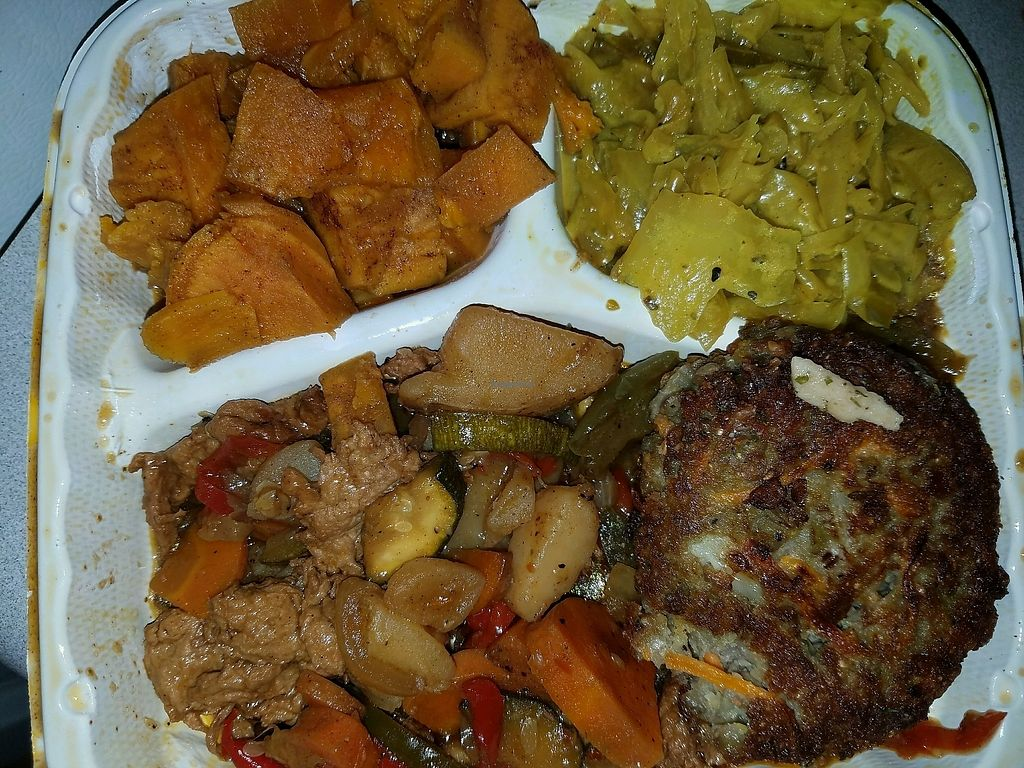 """Photo of The Land of Kush  by <a href=""""/members/profile/WandaGodsBratt"""">WandaGodsBratt</a> <br/>My first plant based meal was delicious! <br/> October 4, 2017  - <a href='/contact/abuse/image/25073/311586'>Report</a>"""