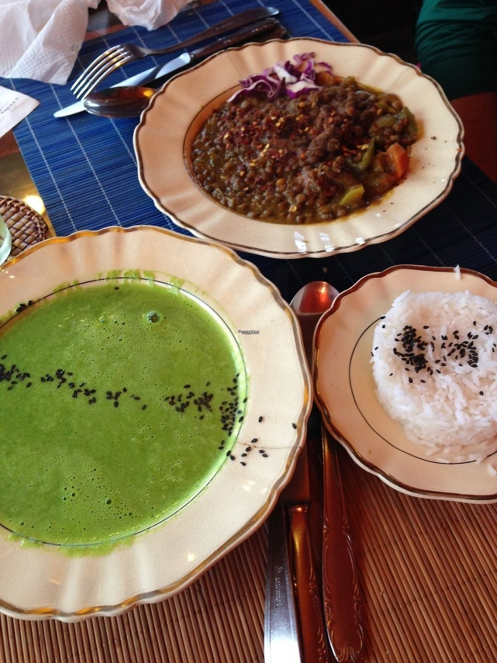 """Photo of Prana Bar Natural  by <a href=""""/members/profile/EmilyNoelle"""">EmilyNoelle</a> <br/>Spinach soup and Indian Dal.  <br/> January 21, 2017  - <a href='/contact/abuse/image/25074/214284'>Report</a>"""