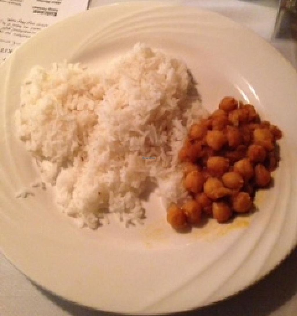 """Photo of Karma Kitchen  by <a href=""""/members/profile/geobrad7"""">geobrad7</a> <br/>Vegan dish from the January 2014 menu (the only vegan option) - note the very small serving size <br/> January 26, 2014  - <a href='/contact/abuse/image/25109/191692'>Report</a>"""