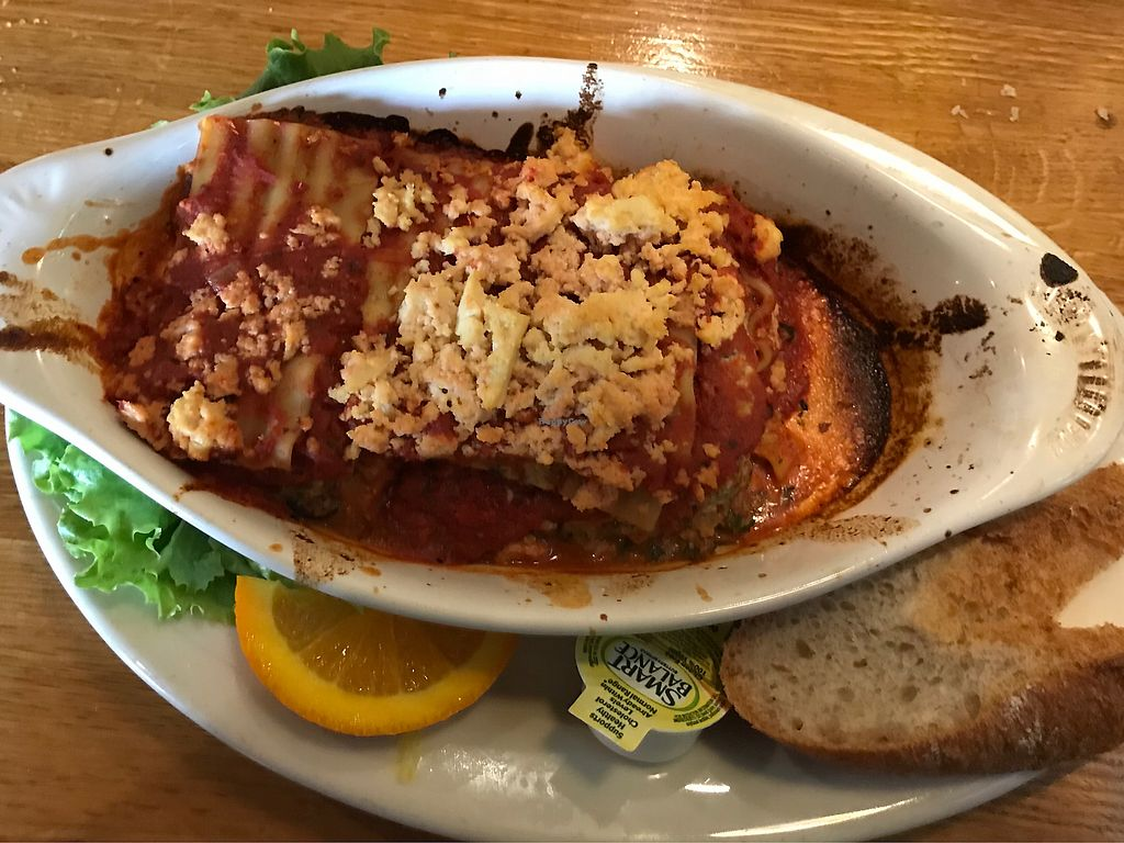 """Photo of Mother's Cafe and Garden  by <a href=""""/members/profile/SandraReis"""">SandraReis</a> <br/>Vegan Tofu Lasagna <br/> May 20, 2018  - <a href='/contact/abuse/image/2510/402315'>Report</a>"""