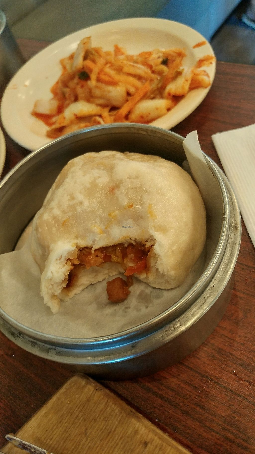 """Photo of Veggie Heaven  by <a href=""""/members/profile/TreyLegall"""">TreyLegall</a> <br/>Kimchi Steamed Bun <br/> October 8, 2017  - <a href='/contact/abuse/image/2515/312988'>Report</a>"""