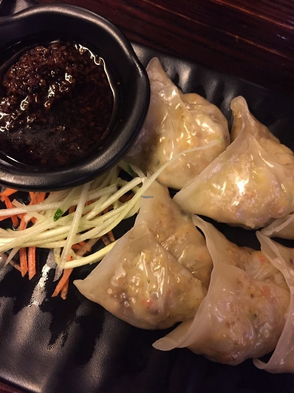 "Photo of Life Cafe  by <a href=""/members/profile/sarah_abdulm"">sarah_abdulm</a> <br/>Vege poached dumplings. I think these are vegan as they are no eggs or dairy <br/> January 24, 2017  - <a href='/contact/abuse/image/25208/215599'>Report</a>"