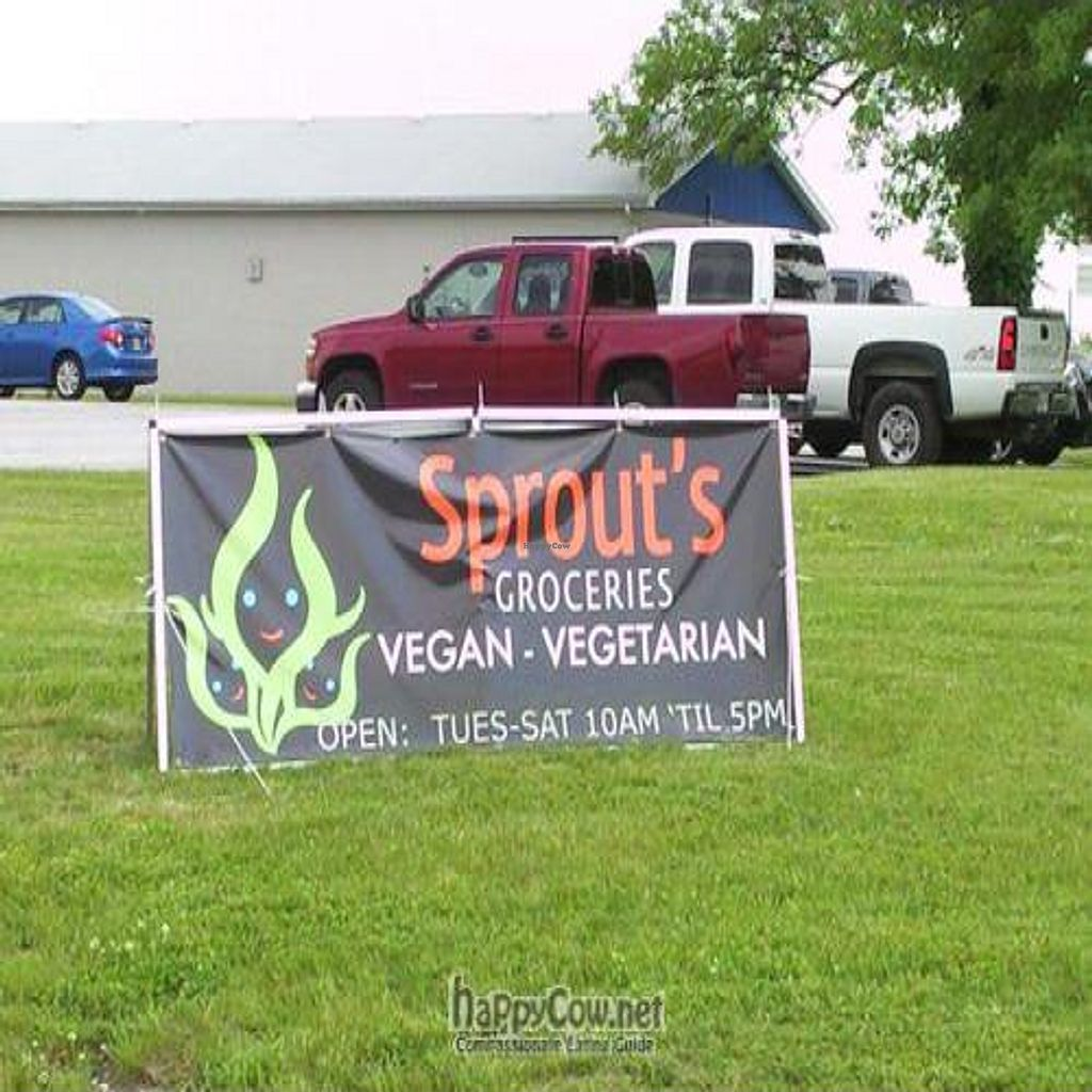 """Photo of CLOSED: Sprout's Groceries  by <a href=""""/members/profile/happycowgirl"""">happycowgirl</a> <br/>look for this sign off of Calumet Road <br/> June 20, 2011  - <a href='/contact/abuse/image/25224/9328'>Report</a>"""