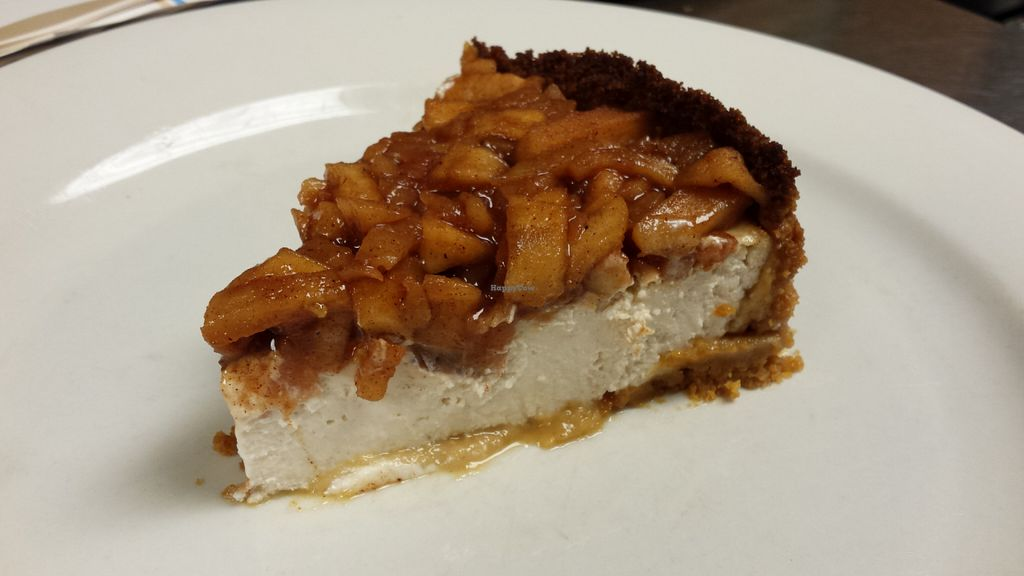 "Photo of Wildflower Earthly Vegan Fare  by <a href=""/members/profile/American%20Vegan"">American Vegan</a> <br/>apple cheesecake <br/> June 26, 2016  - <a href='/contact/abuse/image/25282/156198'>Report</a>"