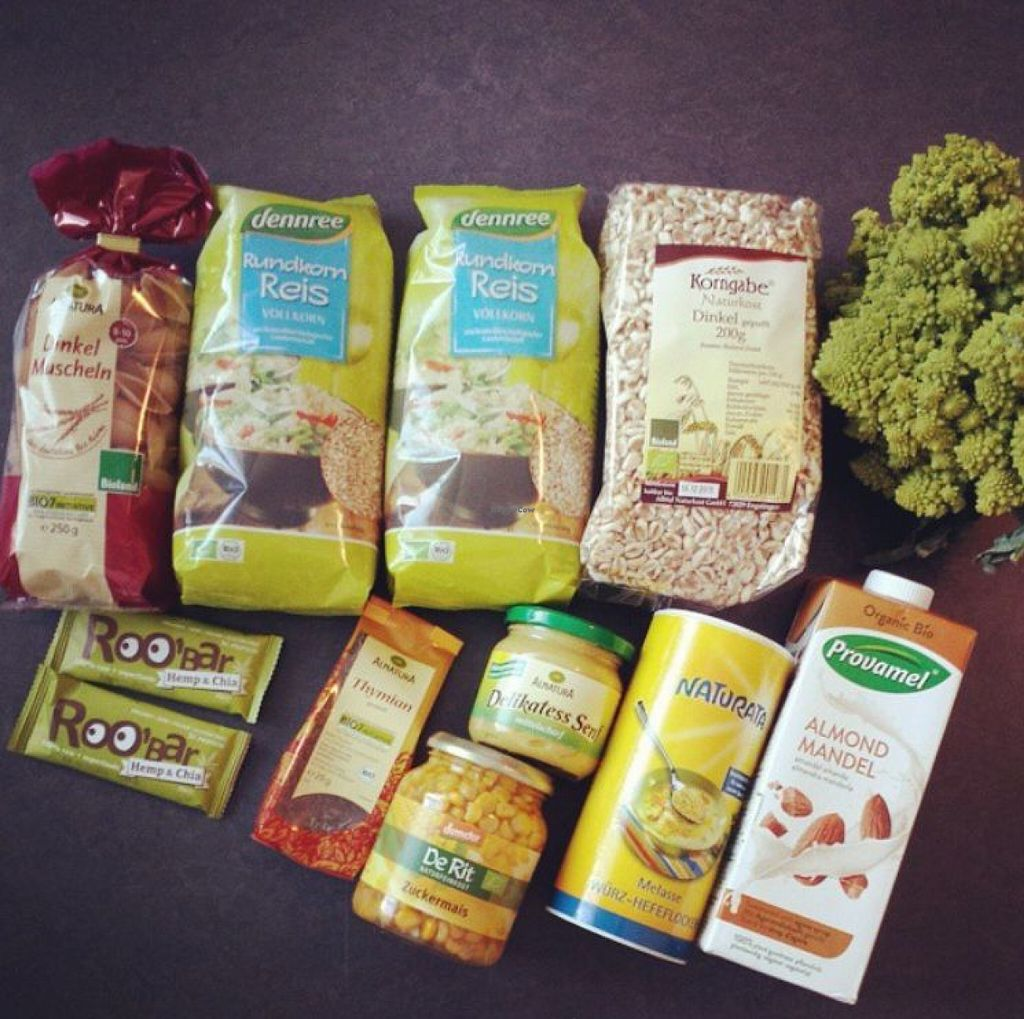 "Photo of denn's Biomarkt  by <a href=""/members/profile/cherryblossom153"">cherryblossom153</a> <br/>Only the pasta, thyme and mustard is from another health store