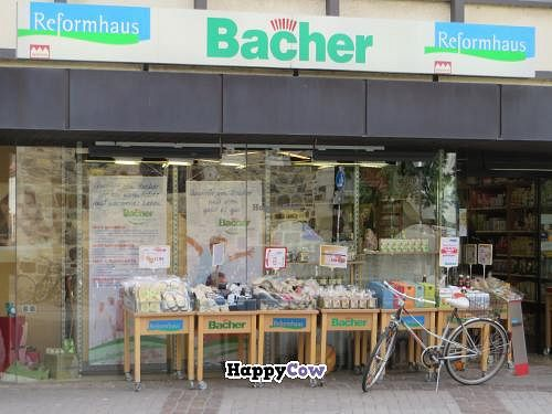 """Photo of Bacher Reformhaus  by <a href=""""/members/profile/VegiAnna"""">VegiAnna</a> <br/>shop front <br/> July 17, 2013  - <a href='/contact/abuse/image/25323/51365'>Report</a>"""