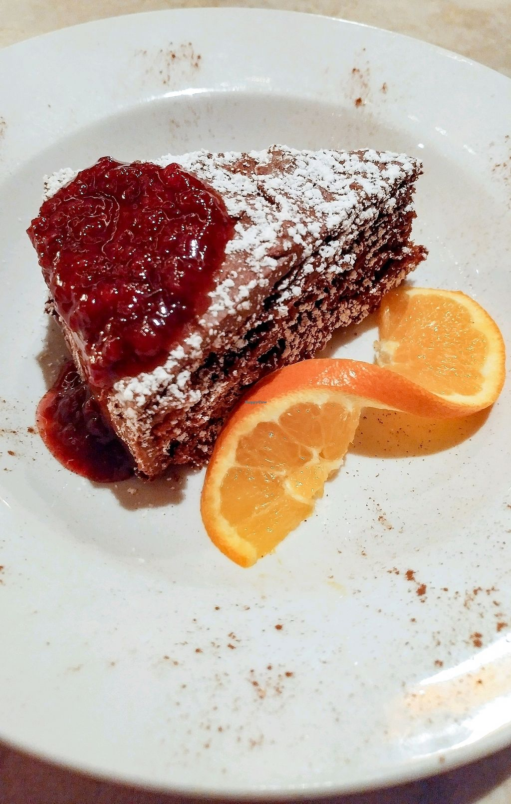 """Photo of The Press Restaurant  by <a href=""""/members/profile/Passittowill"""">Passittowill</a> <br/>Vegan Chocolate Cake <br/> April 15, 2018  - <a href='/contact/abuse/image/25342/386039'>Report</a>"""