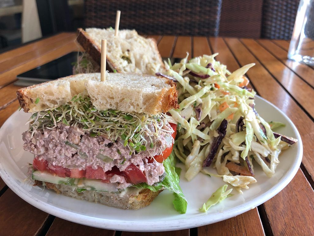 """Photo of Christopher's Kitchen  by <a href=""""/members/profile/dittev"""">dittev</a> <br/>Tuna Walnut sandwich With coleslaw    <br/> November 6, 2017  - <a href='/contact/abuse/image/25365/322680'>Report</a>"""