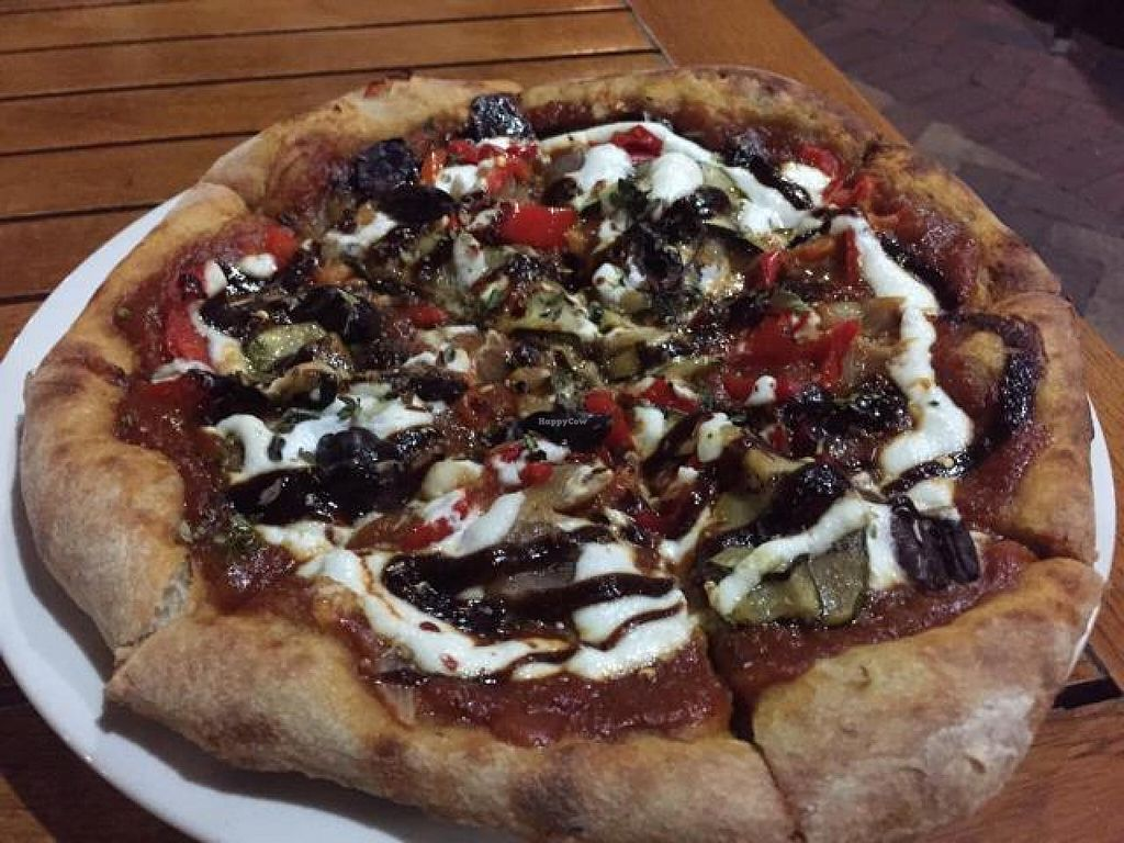 """Photo of Christopher's Kitchen  by <a href=""""/members/profile/Lbatton"""">Lbatton</a> <br/>California Veggie Pizza <br/> October 20, 2014  - <a href='/contact/abuse/image/25365/83517'>Report</a>"""