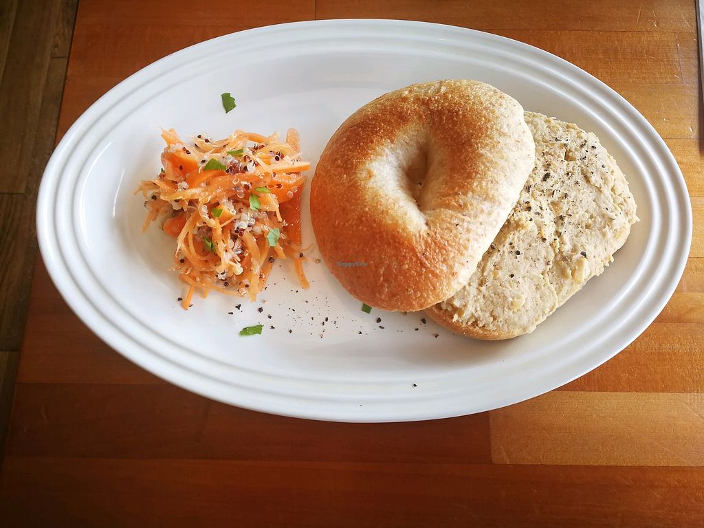 "Photo of Cafe Atl  by <a href=""/members/profile/iFreeze"">iFreeze</a> <br/>Main (Bagel with hummus)  <br/> April 23, 2018  - <a href='/contact/abuse/image/25368/389715'>Report</a>"