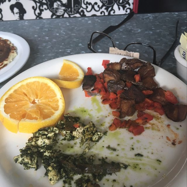 """Photo of Downbeat Diner and Lounge  by <a href=""""/members/profile/TiffanyGougeon"""">TiffanyGougeon</a> <br/>get the pesto tofu scramble! 5 stars! will be coming back!  <br/> September 26, 2016  - <a href='/contact/abuse/image/25374/178152'>Report</a>"""