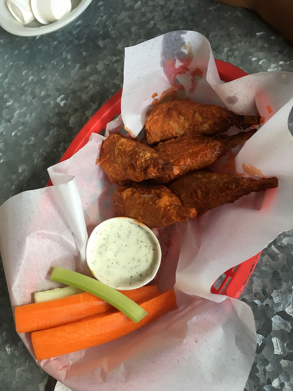 """Photo of Downbeat Diner and Lounge  by <a href=""""/members/profile/JessicaHolmes"""">JessicaHolmes</a> <br/>Hot wings & ranch dip <br/> September 11, 2017  - <a href='/contact/abuse/image/25374/303462'>Report</a>"""