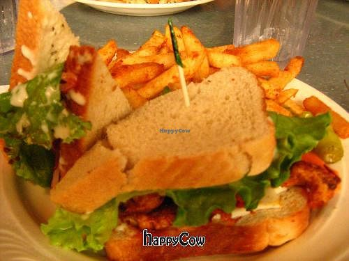 """Photo of Downbeat Diner and Lounge  by <a href=""""/members/profile/DollyWiggles"""">DollyWiggles</a> <br/>vegan buffalo chicken sandwhich <br/> November 11, 2012  - <a href='/contact/abuse/image/25374/40151'>Report</a>"""