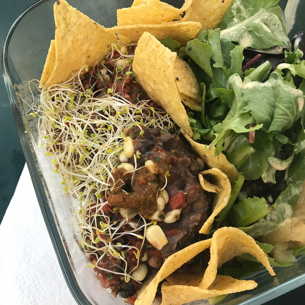 "Photo of The Good Karma Cafe  by <a href=""/members/profile/KacieAmacher"">KacieAmacher</a> <br/>Mexican 5-layer dish on Thursdays <br/> January 30, 2018  - <a href='/contact/abuse/image/25399/352821'>Report</a>"