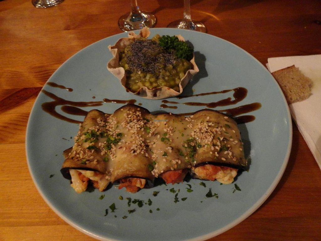 "Photo of Les Amants du Marche  by <a href=""/members/profile/JonJon"">JonJon</a> <br/>Rolled eggplants with vegetables and barley risotto <br/> August 4, 2014  - <a href='/contact/abuse/image/25413/75935'>Report</a>"
