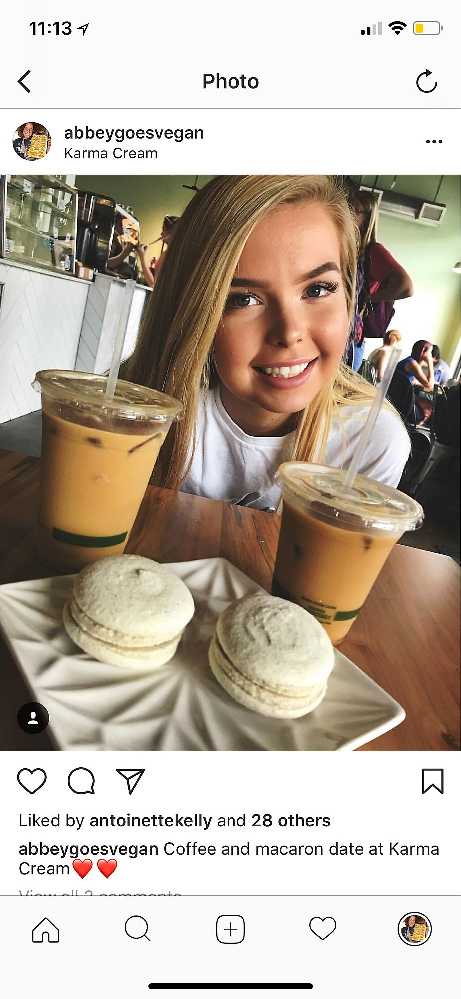 "Photo of Karma Cream  by <a href=""/members/profile/AbigailAnnaFoster"">AbigailAnnaFoster</a> <br/>Macarons!! <br/> April 15, 2018  - <a href='/contact/abuse/image/25429/386005'>Report</a>"