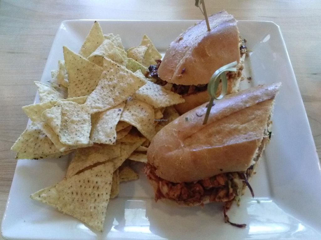 "Photo of CLOSED: Sage Organic Vegan Cafe and KindKreme  by <a href=""/members/profile/Sonja%20and%20Dirk"">Sonja and Dirk</a> <br/>BBQ pork sandwich <br/> May 10, 2015  - <a href='/contact/abuse/image/25430/101824'>Report</a>"
