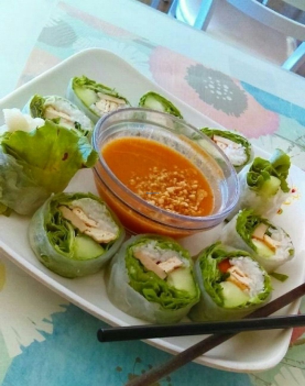 """Photo of Loving Hut - Mira Mesa  by <a href=""""/members/profile/yourmoderndayhippie"""">yourmoderndayhippie</a> <br/>spring rolls <br/> March 22, 2016  - <a href='/contact/abuse/image/25532/188709'>Report</a>"""